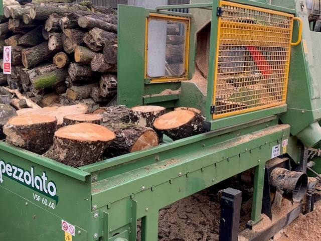 Image for: Hardwood Logs Being Prepared
